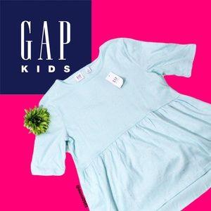 NWT Gap Kids Pale Teal Sparkle Glitter Peplum Top